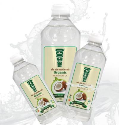 Dầu dừa nguyên chất Vietcoco 1L (Chai PET)
